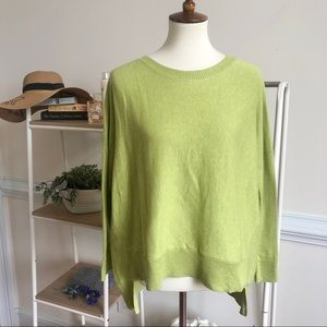Eileen Fisher green high low oversized top